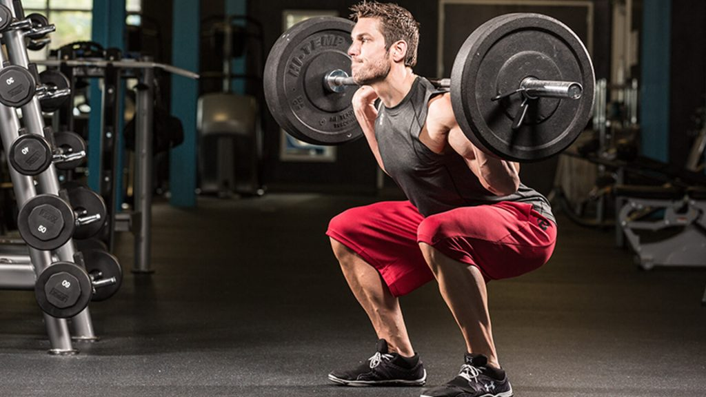 Barbell squats leg workouts for men
