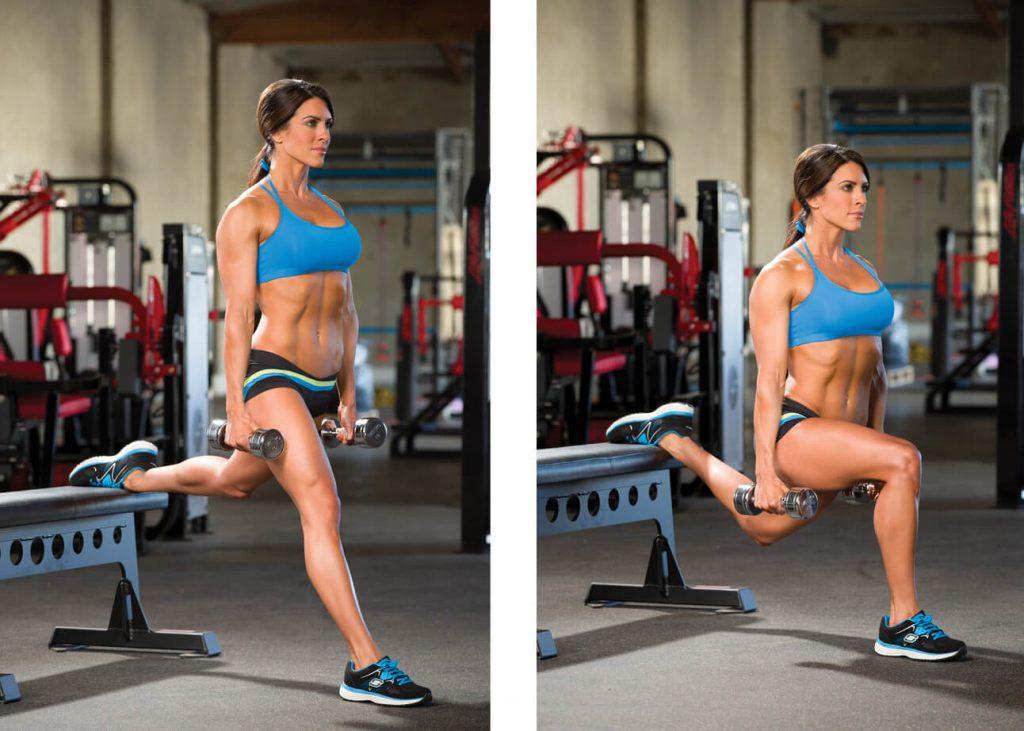 Bulgarian Split Squat leg workouts for women