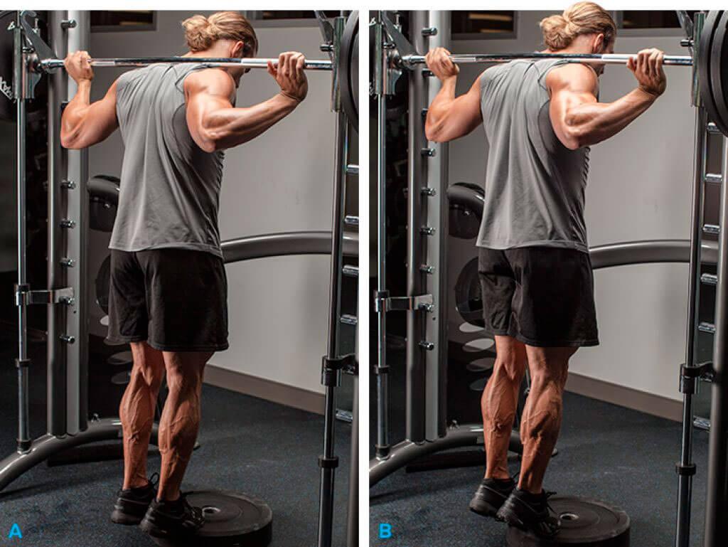 the man doing Calf Raises exercise
