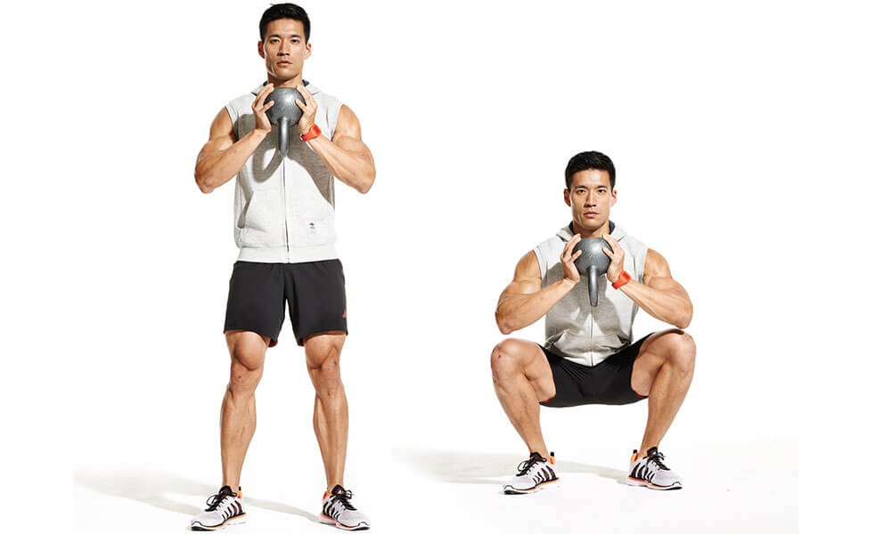 Goblet Squats leg workouts at home