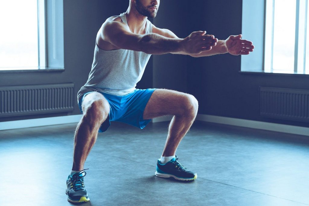 Squat leg workouts at home