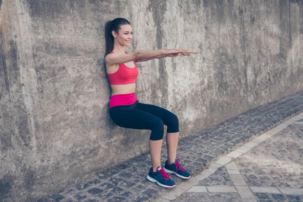 Wall Squat LEG WORKOUTS FOR WOMEN
